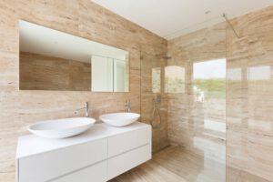 verwarmde badkamerspiegel
